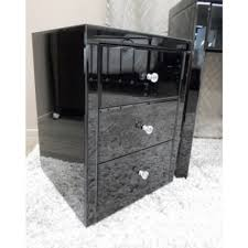 vegas white glass mirrored bedside tables. Large Size Of :black Glass Sideboard Quickly Vegas Black Mirrored Bedside Table Chest White Tables