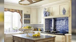 Rectangle Kitchen Design Brown Wooden Floor And Some Patching Lamps Beige Tile Backsplash