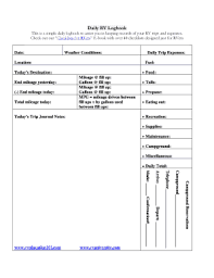 Mileage Logbook 19 Printable Mileage Log Book Pdf Forms And Templates