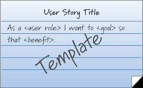 User Story Requirements Template Blog User Stories Match The Goal To The Role Innolution