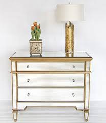 diy mirrored furniture. Glam Furniture - Mirrored Dressers Diy Borghese Gold 3-Drawer S