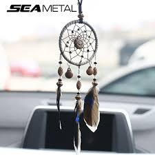 Dream Catcher For Car Mirror Beauteous Car Pendant Ornaments Hanging Handmade Dream Catcher Indian Rearview