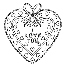 Small Picture Coloring Pages of Valentine Hearts gobel coloring page