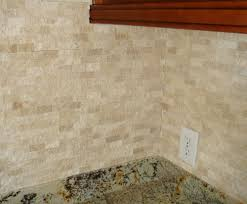 Travertine Kitchen Backsplash Split Face Travertine Backsplash Home Design Ideas