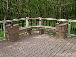 brownstone azek deck corner deck bench