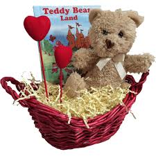 teddy bear gift basket