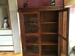 bookcase with glass doors antique oak