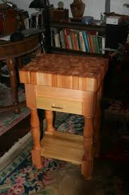 Kitchen Chopping Block Table Small Butcher Block Table The Perfect Fit For Small Kitchens