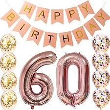 Amazoncom 60th Birthday Decorations Party Supplies 60th Birthday