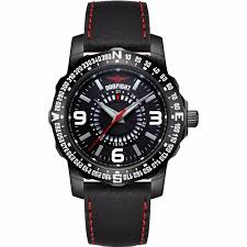 dogfight mens ace black leather strap watch df0015 21408 p png