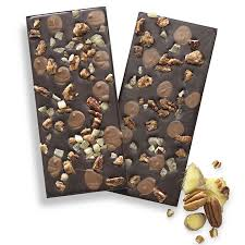 fancy chocolate bars.  Fancy Dark Chocolate Praline Pecan U0026 Ginger Bark Bar To Fancy Bars L