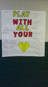Poster Made By The Oilton Cheer Leaders To Support The Softball Team