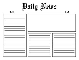 Heres A Basic Newspaper Template That You Can Use Anytime You Want