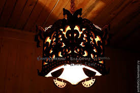 order lamp chandelier wood divo woodmelody livemaster