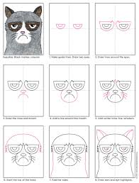 easy grumpy cat drawing. Contemporary Easy Find How Easy It Is To Draw Grumpy Cat With My Stepbystep Tutorial  Luckily He Has Some Pretty Distinctive Features Like The Dark Rings Around His Eyes  With Easy Drawing T