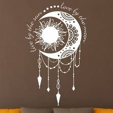 sun love by the moon wall art sticker