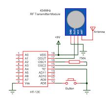 wireless door bell wireless doorbell receiver circuit diagram