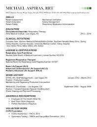 sample respiratory therapist resume   free resume writing guide    michael aspiras rrt resume