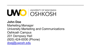 Email Signature Email University Marketing And Communications University