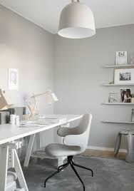 grey home office. Light Grey Home Office By JM I