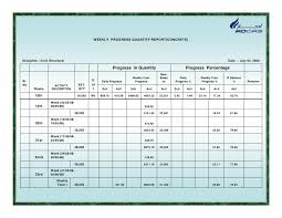 Construction Site Daily Progress Report Format Magdalene