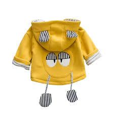 Cute <b>Cartoon</b> Boys Girls Hooded Cotton Coat For 0-<b>24</b> Months ...