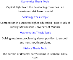 how to choose a thesis topic sample thesis topic