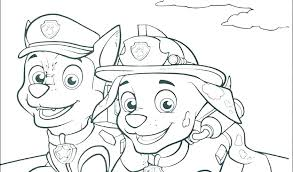 Paw Patrol Printable Birthday Coloring Pages Bltidm