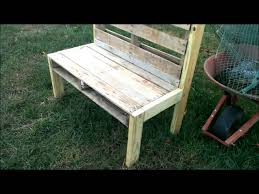 how to make a pallet bench making a garden bench from an old pallet