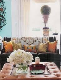Here is another example using a large white round tray: Ottoman Coffee Table Trays And Styling Videos And Tutorial