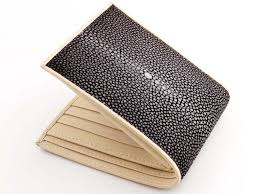 stingray wallet genuine stingray skin stingray leather image