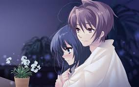 1920x1200 cute anime couple love wallpaper