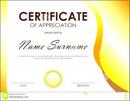 Certificate Of Appreciation Words Template Certificate Of Appreciation Word Template 9
