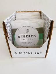 A similar concept has existed in japan since the early 1990s, but steeped coffee, an aptly named company located in santa cruz, made this version readily available in the united states in 2017. A Stellar Cup Of Steeped Coffee Giveaway Limbylim