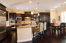 Dark hardwood floor Color 34 Kitchens With Rich Dark Wood Floors Home Stratosphere 34 Kitchens With Dark Wood Floors pictures