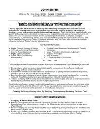 Social Media Sample Resume Social Media Consultant Resume Social