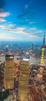 cityscape shanghai china skyser 5k iphone xs max