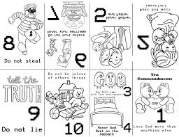 Preschool 10 Commandments Bible Class Preschool Bible Lessons