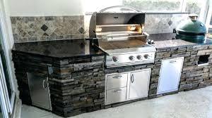 stone outdoor kitchen upgrade 1 big green egg design
