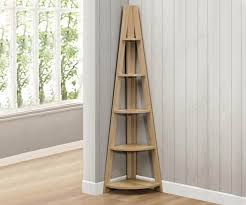 corner shelves furniture. Birlea Furniture Nordic Oak Finish Corner Bookcase Shelves H
