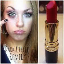 i recently saw this thing on social a claiming that red lipstick was the magic secret to concealing dark circles i thought no way