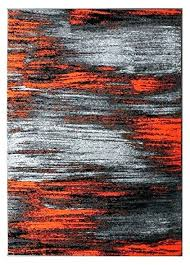 contemporary modern fl flowers dark grey area rug orange and gray rugs collection hand tufted in