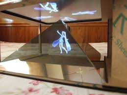 diy holographic projection pyramid for 3 5 to inches of