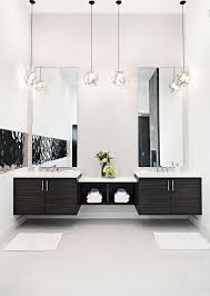 modern lighting bathroom. contemporary master bathroom with pendant light tom dixon etch shade steel double sink flush modern lighting i