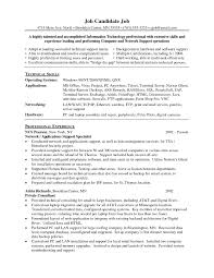 Formidable Sample Resumes Technical Support For Resume Samples For