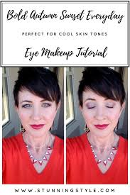 bold autumn sunset everyday eye makeup tutorial for cool skin tones stunning style