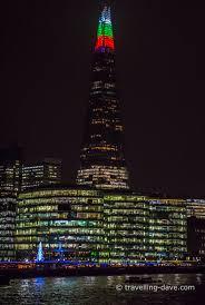 The Shard London Christmas Lights Christmas Lights On The Shard London Travelling Dave