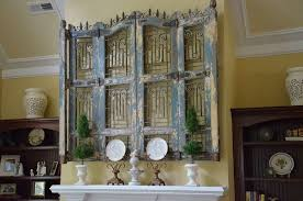 Exceptional Antique Wood And Iron Shutters As Home Decor Via Home Talk