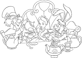Fancy Alice In Wonderland Coloring Page 82 On Coloring Site With