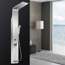 Duschpaneel Duschsäule Edelstahl Regendusche Massagedüsen Wasserfall Matt Gebürstet Sanlingo